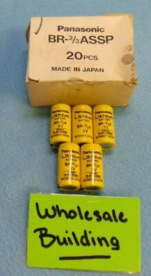 PANASONIC LITHIUM BATTERIES, BR-2/3ASSP, NON-RECHARGEABLE, LOT OF 5, OLD STOCK for sale  Shipping to India