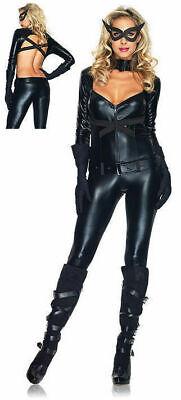 85015 Leg Avenue Black Jumpsuit Costume Sexy Cat Woman Cosplay M or L