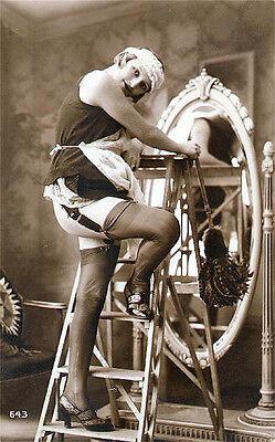 A4 Vintage 1920's Art Deco Pretty Nude Girls ..Victorian/Edwardian Beauties 254