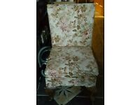 Parker knoll style nursing chair solid little chair Queen Anne legs great frame
