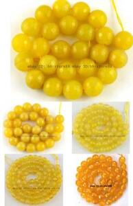 Yellow-Agate-round-faceted-gemstone-Beads-15-6mm-8mm-10mm-12mm-14mm