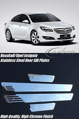 Vauxhall/Opel Insignia 4 Piece Stainless Steel Door Sill Protector Plates Set