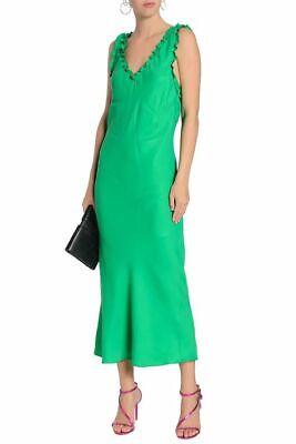 Authentic TIBI Bias Green Crepe Slip Dress XS S 6 8 – Net a Porter