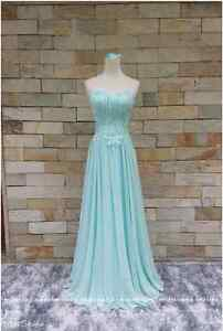 Tiffany blue full evening dress for ladies Kitchener / Waterloo Kitchener Area image 4