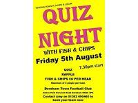 Fish & Chip Quiz at Dereham Town FC