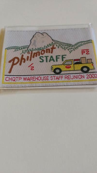 BSA, Philmont Staff, CHQTP Warehouse Staff Reunion 2002, wooven