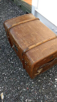 Old cabin trunk with internal fittings, lovely feature or coffee table