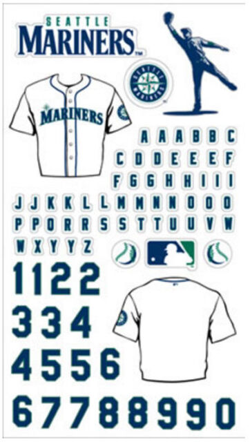 Seattle Mariners Scrapbook Sticker Packs Mlb Jersey Retail 75 Ebay