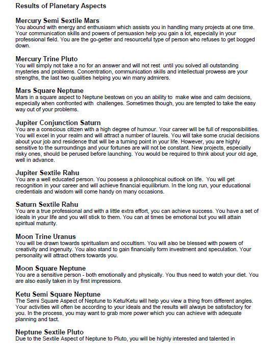 2019 VEDIC ASTROLOGY HOROSCOPE FULL REPORT PDF CD | PolyBull com
