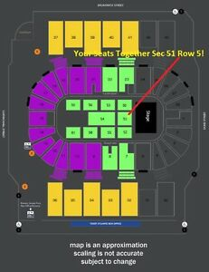 I LOVE THE 90'S SEC 51 4 CENTER STAGE FLOOR SEATS TOGETHER $150