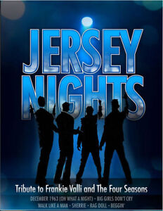 Jersey Nights: Tribute to Frankie Valli - June 12 & 13 - 1pm