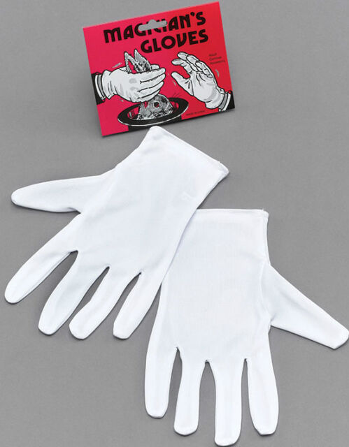 WHITE GLOVES UNISEX ADULT SIZE - FANCY DRESS MAGICIAN MIME MARIO MICKEY MOUSE