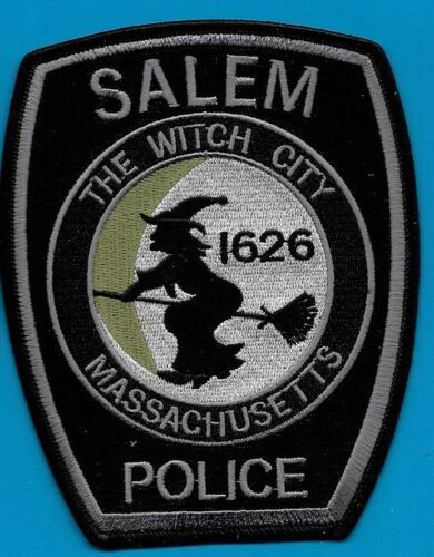 SALEM MASS MA POLICE THE WITCH CITY WITCH ON A BROOM SPD PD LOT OF 1 (FIRE) SWAT