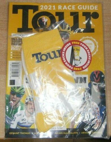 Tour magazine 2021 172 page Race Guide Tour De France Champions Showdown + Socks