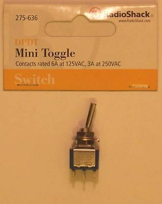 Radioshack 275-636 Dpdt Mini Toggle Switch With Wider Flat Lever 6a At 125vac