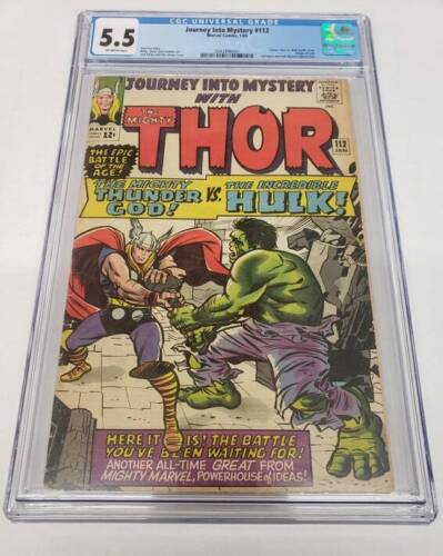 Journey Into Mystery #112 Origin of Loki Thor Vs Hulk Kirby CGC Graded 5.5