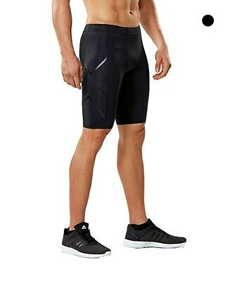 2XU Men's Core Compression Shorts, Black/Nero, XX-Large