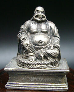 ancienne statuette bouddha rieur porte bonheur buddha statue ebay. Black Bedroom Furniture Sets. Home Design Ideas