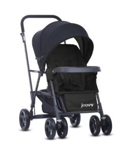 Double stroller and infant  bike seat