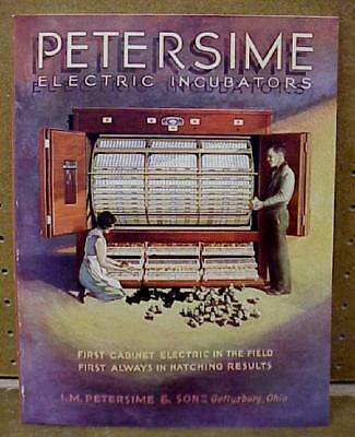 Vintage 1930s Petersime Electric Incubators Complete Catalog - New Old Stock