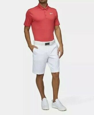 Nike Golf Icon Elite Short Sleeve Golf Polo Shirt Red SZ ( 833071-645 ) NWT!