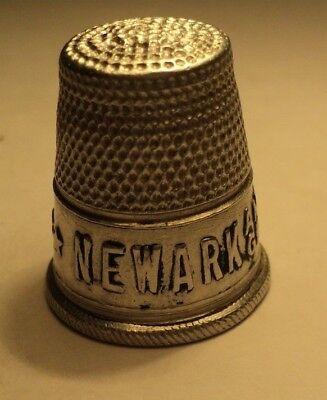 Vintage Newark Shoe Aluminum Advertising Thimble America's Greatest