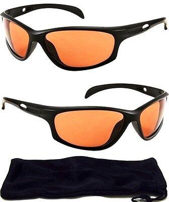 HD Driving Aviator SunGlasses Golf Vision Blue Blocker High Definition NEW Black