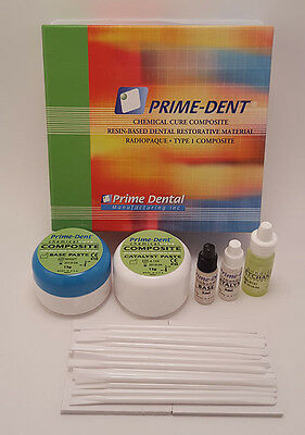 Prime Dent Dental Chemical Self Cure Composite Kit 15gm15gm Bonding Exp 2022