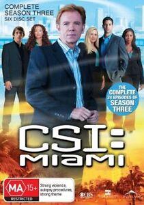 C.S.I. CSI MIAMI : SEASON 3 : NEW DVD