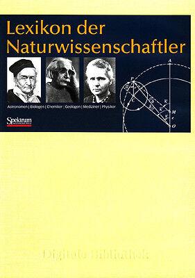 Naturforscher Bibliothek (Lexikon der Naturwissenschaftler über 3000 Forscher CD Digitale Bibliothek Nr 85)