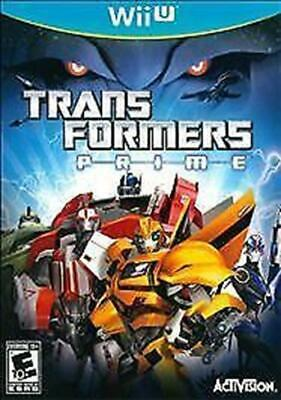 Transformers Prime (Nintendo Wii U, 2012) DISC IS MINT
