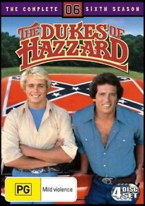 The Dukes Of Hazzard : Complete Sixth Season 6 - NEW+SEALED DVD movie -free post