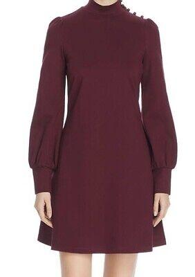 NWT Women's Kate Spade A-Line Mockneck Mini Dress Deep Cherry Size XL