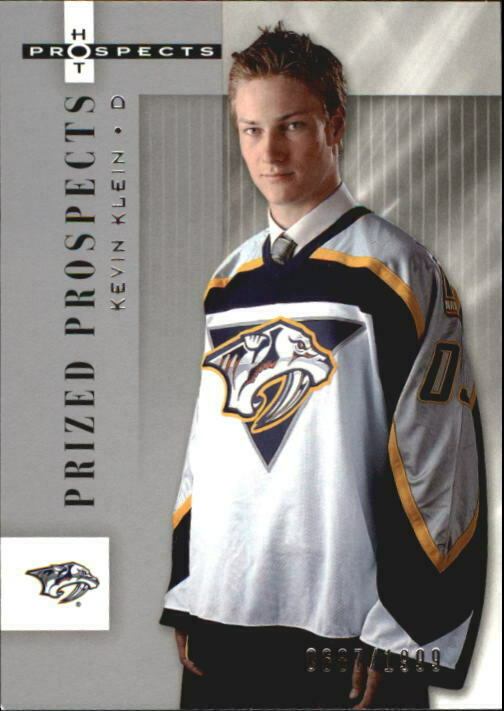 2005-06 Hot Prospects Predators Hockey Card #145 Kevin Klein Rookie