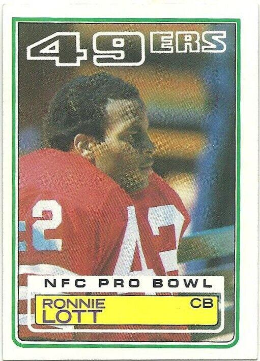 Ronnie Lott 1983 Topps 168 San Francisco 49ers Jets Raiders NFL HOF - $2.99