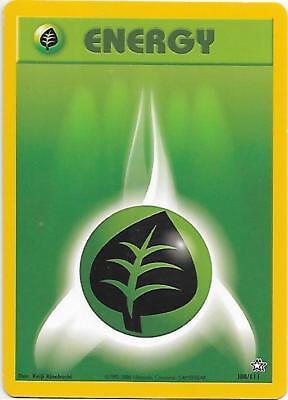 Grass Energy 108 111 Neo Genesis Pokemon Energy Card  Ex