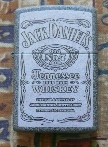 ALCOHOL JACK DANIELS WHITE LABEL ZIPPO LIGHTER FREE P&P FREE FLINTS