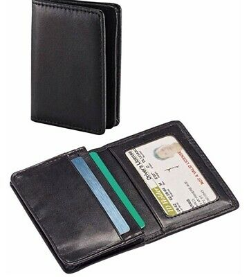 SAMSONITE GENUINE LEATHER  LIGHTWEIGHT ID CREDIT BUSINESS  CARD WALLET Xmas Gift