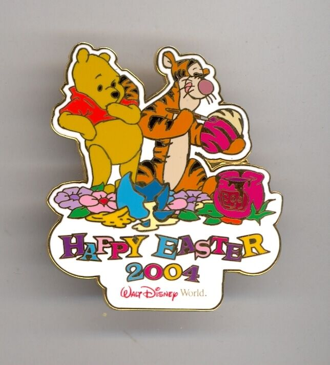 Disney Winnie the Pooh Surprised by Tigger Painting Striped Easter Eggs LE Pin