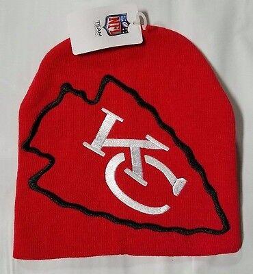 Kansas City Chiefs Knit Beanie Winter Hat Toque Skull Cap NEW Red Hype Big Logo Big Logo Knit Cap