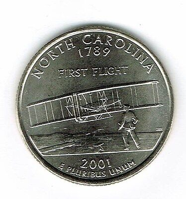 Carolina State Quarter Coin (2001-P Brilliant Uncirculated North Carolina 12TH State Quarter Coin! )
