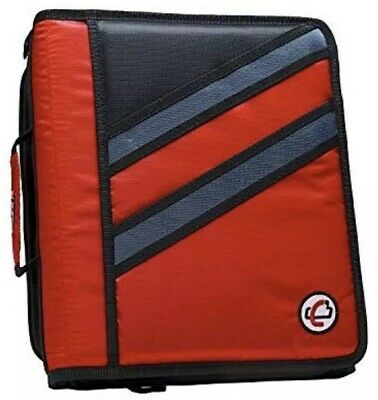 Case-it Z-binder Two-in-one 1.5 3 Ring Zipper Binder Red Z-176-red The Z