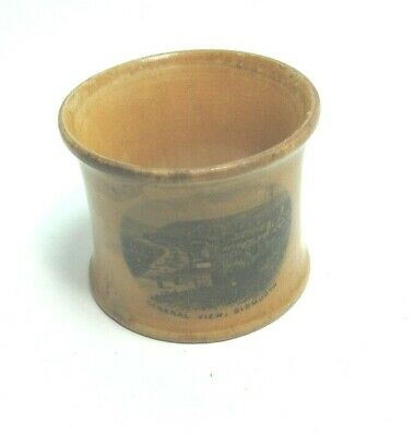 ANTIQUE MAUCHLINE TRANSFER WARE NAPKIN RING HOLDER GENERAL VIEW SIDMOUTH
