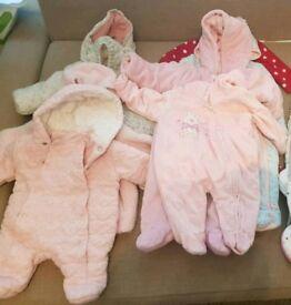 Baby girls 0-3 autumn winter coats bundle