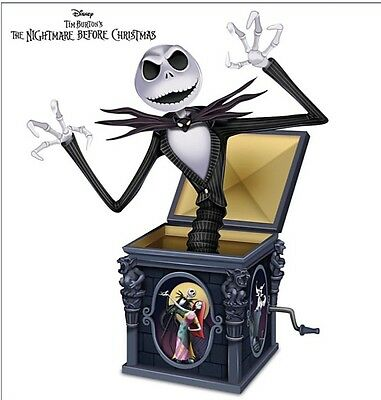 Nightmare Before Christmas Jack In The Box Figurine Jack Skellington NEW COA