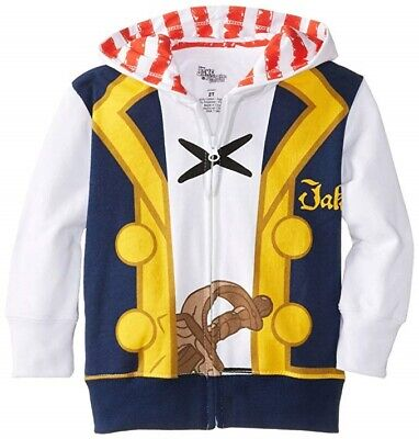 Jake And The Neverland Pirates Toddler Boys Costume Hoodie 2T - Jake The Pirate Costume