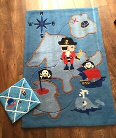 Next pirate rug in great condition with a free matching pin board