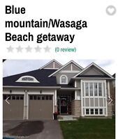 Wasaga/Collingwopd/Blue mountain cottage for rent