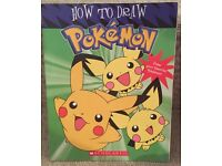 Pokemon 2002 Vintage - how to draw book (including Pikachu), Nintendo / Toy
