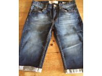 Boys Levi Shorts 511 Slim. Dark Wash. Aged 14 yrs. Excellent condition.